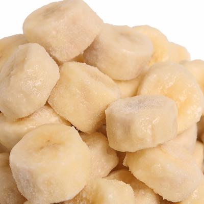 冷凍バナナIQFスライス