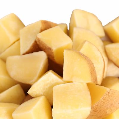 冷凍ポテトIQF乱切り 皮つき